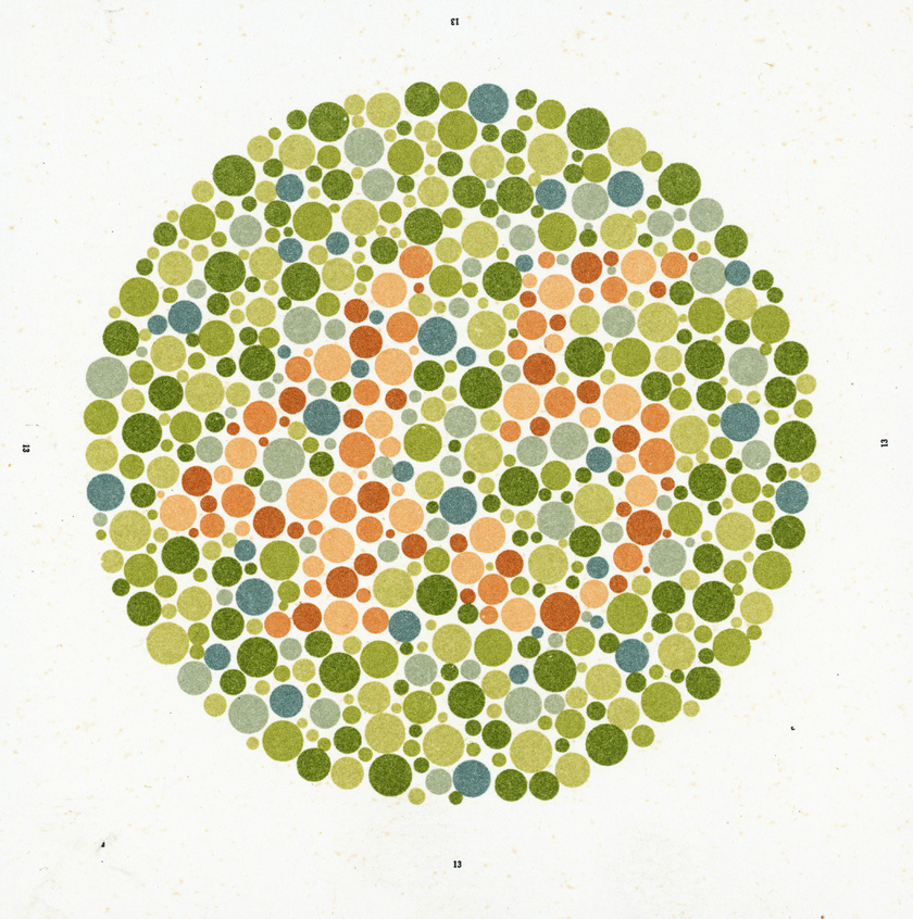 színvakság-teszt a táblázatok szerint