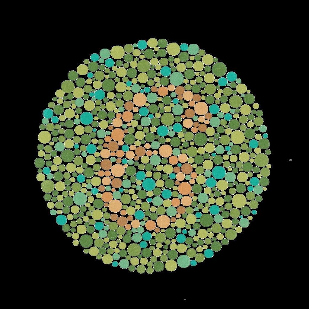 színvakság-teszt diagram